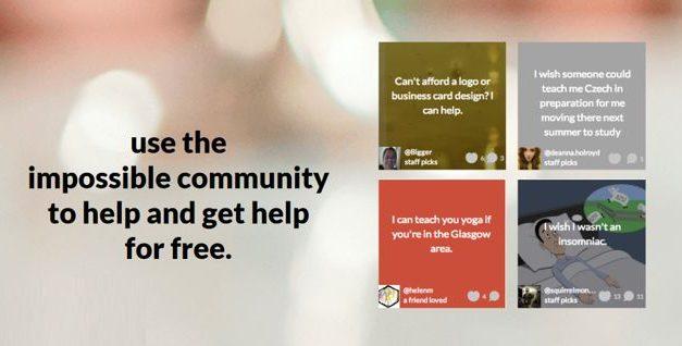 Impossible – Rede Social para pessoas ajudarem as outras sem cobrar nada
