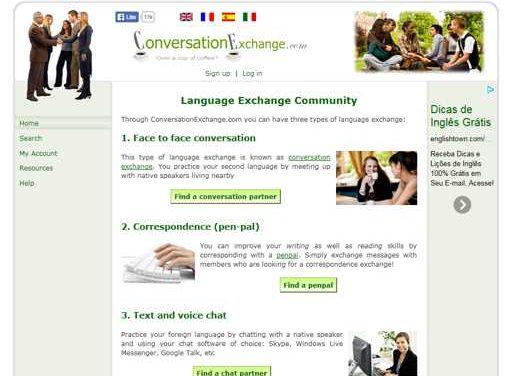 Meu português pelo seu francês/ inglês/ japonês/ chinês/… – troque idiomas no Conversation Exchange